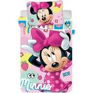 SunCity - Set lenjerie pat copii Minnie 100x135 + 40x60 cm