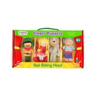 Fiesta - Set marionete deget Scufita Rosie pentru teatru papusi  finger-puppet  3 ani+