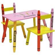 Style - Set masuta si 2 scaunele Crayon, Pink