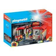 Playmobil - Set mobil statie de pompieri