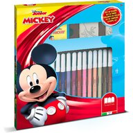 Multiprint - Set pictura 22 piese, 2 stampile, tus, 18 carioci si caiet cu activitati Mickey  MP86945