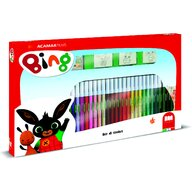 Multiprint - Set pictura 41 piese, 3 stampile, tus, 36 carioci si caiet cu activitati Bing  MP57987