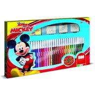 Multiprint - Set pictura 41 piese, 3 stampile, tus, 36 carioci si caiet cu activitati Mickey  MP57945