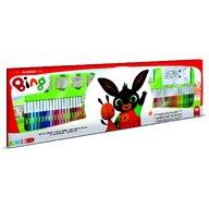 Multiprint - Set pictura 96 piese, 4 stampile, tus, 60 carioci, 30 stickere si caiet cu activitati Bing  MP18987