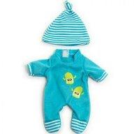 Miniland - Imbracaminte si incaltaminte Set pijama si caciulita , Pentru papusi de 21 cm