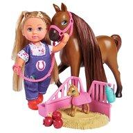 Simba - Papusa Evi Love Set doctor Evi Welcome Horse Cu figurina cal si accesorii