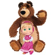 Simba - Set Masha and The Bear papusa Masha 23 cm si ursulet de plus 43 cm
