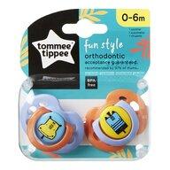 Tommee Tippee - Set suzete ortodontice de zi Fun, 0-6 luni, 2 buc, Hipopotam/Girafa