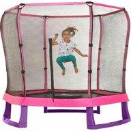 Plum - Set trambulina copii cu plasa de protectie Junior Pink Purple 7FT PLUM
