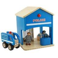 Masterkidz - Statie de politie de jucarie, din lemn, +3 ani, , pentru gradinite