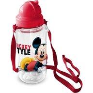 Star - Sticla pentru copii Mickey cu pai, 450 ml  ST59714