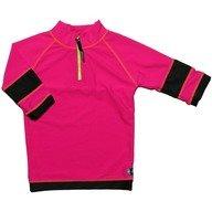Tricou de baie pink black marime 80- 92 protectie UV Swimpy