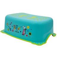 MyKids - Taburet inaltator baie copii Little Bear and Friend, cu sistem antialunecare, Turquoise