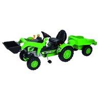 Simba - Tractor cu pedale Loader , Cu remorca, Cu cupa, Verde