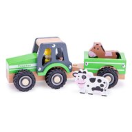 New Classic Toys - Tractor cu trailer si nimale