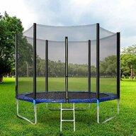 In One - Trambulina 180 cm cu plasa si scarita, Albastru