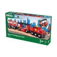 BRIO - Tren din lemn , De pompieri