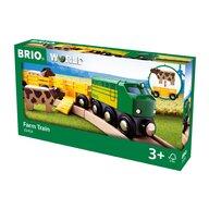 BRIO - Tren din lemn , De la ferma