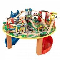 KidKraft - Trenulet din lemn City Explorer si masa de joaca