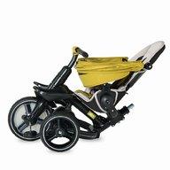 Coccolle - Tricicleta Alto Suport picioare, Control al directiei, Spatar reglabil, Pliabila, Rosu