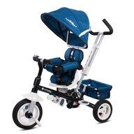 Sun Baby - Tricicleta Super Trike Plus Mecanism de pedalare libera, Control al directiei, Scaun reversibil, Albastru