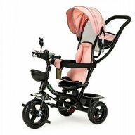 Ecotoys - Tricicleta JM-066-9 , Mecanism de pedalare libera, Suport picioare, Control al directiei, Rotire 360 grade, Roz
