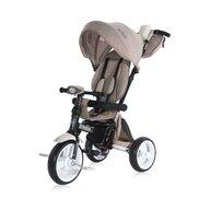 Lorelli - Tricicleta Enduro Suport picioare, Control al directiei, Rotire 360 grade, Scaun reglabil, Bej