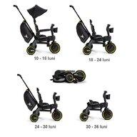 Doona - Tricicleta Liki Trike Midnight Control al directiei, Spatar reglabil, Pliabila, Editie Limitata
