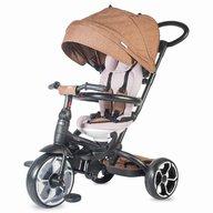 Coccolle - Tricicleta Modi+ Mecanism de pedalare libera, Suport picioare, Control al directiei, Spatar reglabil, Maro