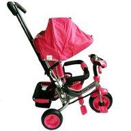 Baby Mix - Tricicleta Lux Trike Mecanism de pedalare libera, Suport picioare, Control al directiei, Spatar reglabil, Cu sunete si lumini, Roz