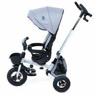 KidsCare - Tricicleta Davos Mecanism de pedalare libera, Suport picioare, Control al directiei, Spatar reglabil, Rotire 360 grade, Pliabila, Gri