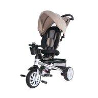 Lorelli - Tricicleta Rocket Suport picioare, Control al directiei, Scaun reglabil, Bej