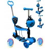R-Sport - Trotineta JR , 5 in 1, Cu roti luminoase, Cu platforma antiderapanta, Albastru