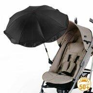 Euret - Umbrela pentru carucior copii, 73 cm, Negru