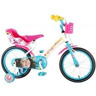 Volare - Bicicleta pentru fete 16 inch cu scaun pentru papusi roti ajutatoare si cosulet Soy Luna