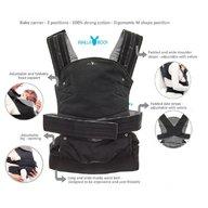 Wallaboo - Marsupiu ergonomic Easy comfort, Black