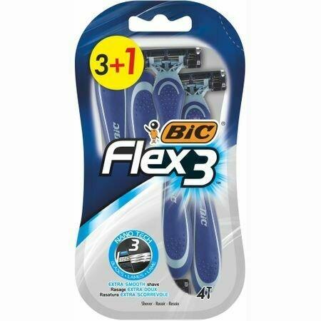 Aparat de Ras pentru barbati BIC Flex 3 Comfort - 3+1 bucati
