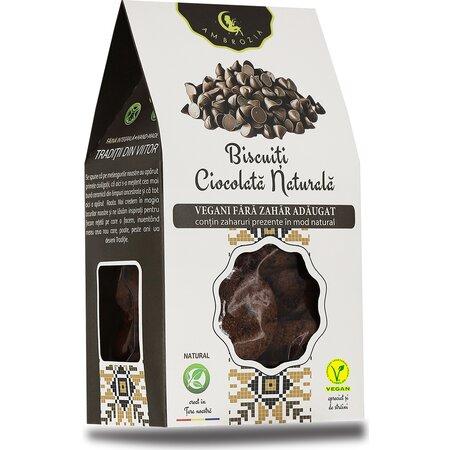 Biscuiti vegani cu ciocolata naturala Ambrozia 150g