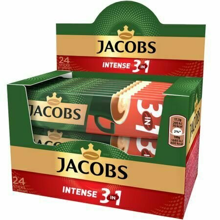 Cafea solubila Jacobs 3in 1 Intense 17,5g x 24