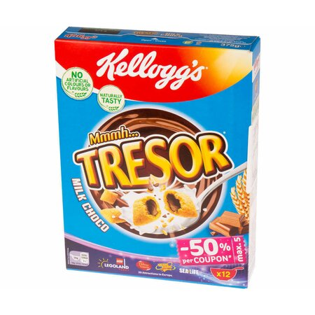 Cereale Kellogg's - Tresor Milk Choco 375g