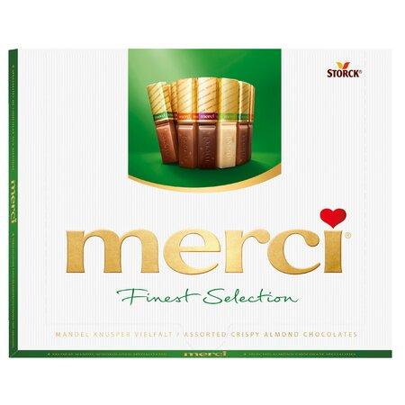 Ciocolata asortata Merci cu 4 sortimente de specialitati cu migdale 250gr