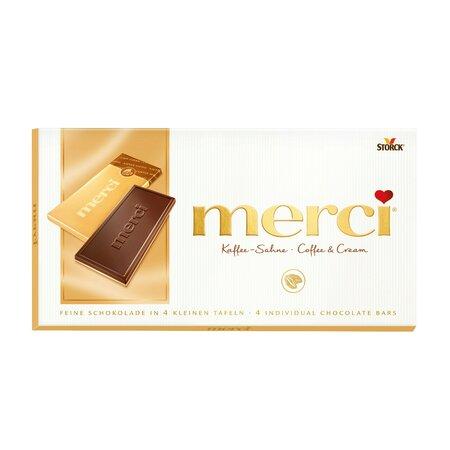 Ciocolata Merci tableta cafea, frisca 100gr