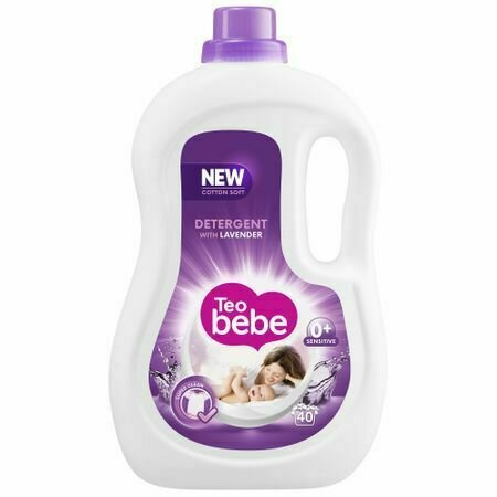 Detergent automat Teo Bebe Cotton Soft Lavender 2.2L