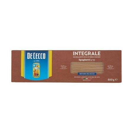 Paste integrale spaghetti De Cecco 500g