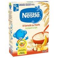 Cereale Nestle 8 Cereale cu Fructe, 250g, 12 luni+