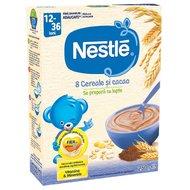 Cereale Nestle 8 Cereale si cacao, 250g, 12 luni+