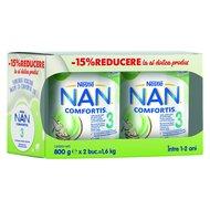 Lapte pentru copii de varsta mica Nestlé NAN COMFORTIS 3, intre 1-2 ani, 2x800g