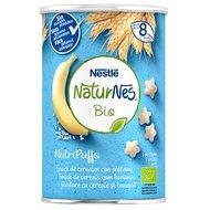 Snack cereale Nestle NaturNes BIO NutriPuffs cu banana 35g, 8 luni+