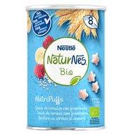Snack cereale Nestle NaturNes BIO NutriPuffs cu zmeura 35g, 8 luni+