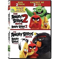 Angry Birds 1 Filmul + Angry Birds 2 Filmul (Colectie 2 DVD-uri) / The Angry Birds 1+2 Movie Collection - DVD